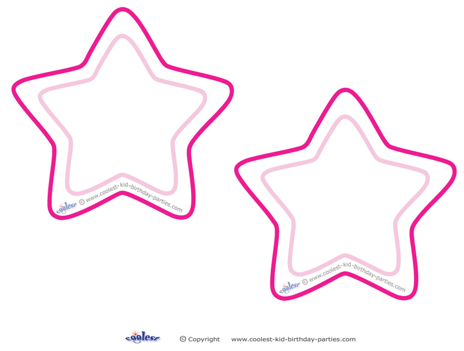 Rounded Star Template Star Template Printable Star Template Templates Printable Free