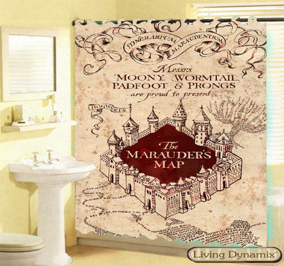 dcca88dbc38 Hot 2014 Marauder s Map Custom Shower Curtain Mine Craft Game Avilable 3  Size Bath Curtain GIFT Limited