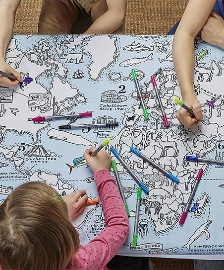 Eatsleepdoodle color learn world map tablecloth zulily eatsleepdoodle color learn world map tablecloth zulily gumiabroncs Gallery