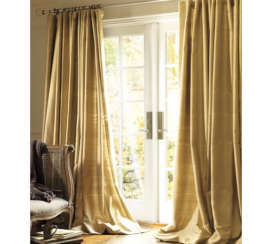 Dupioni Silk Drape Pottery Barn Love The Fullness Of Double Width D Maybe In Ivory For Bedroom