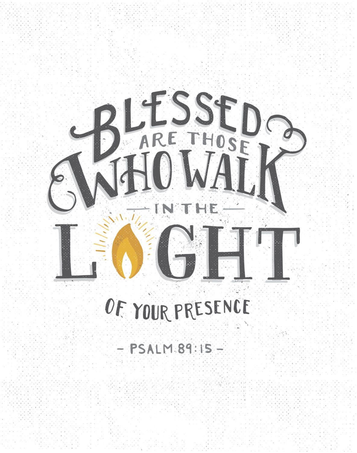 Blessed Are Those Psalm 89 15 Scripture Print Walk In
