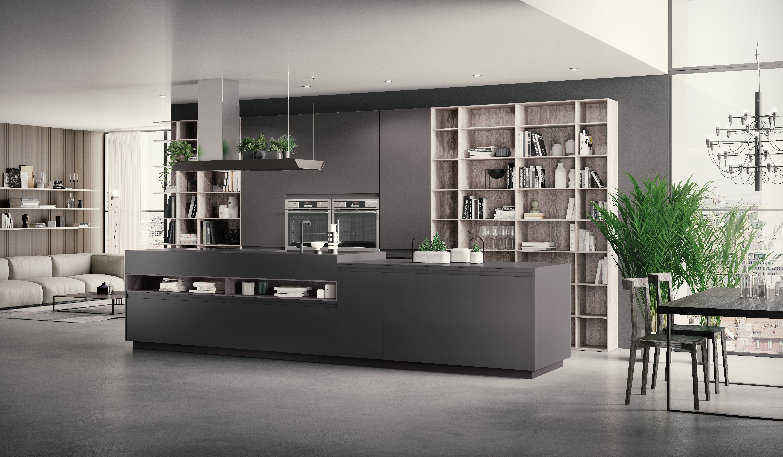 Bvolume loft kitchen by berloni nobilitato sandy piombo - Cucine berloni catalogo ...