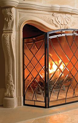 victoria beveled glass fireplace screen luxe living rooms glass rh pinterest com