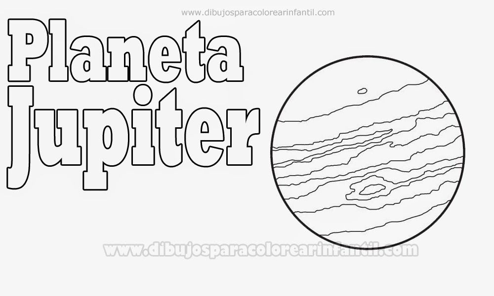 Planetas Para Colorear Jupiter Para Colorear Planetas Para Colorear Planetas Dibujos Para Colorear