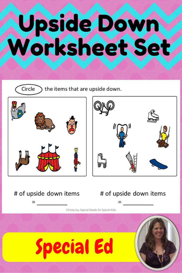 Upside Down Preposition Worksheet for Special Education | Special ...