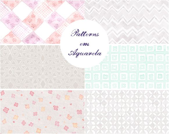 Patterns em Aquarela