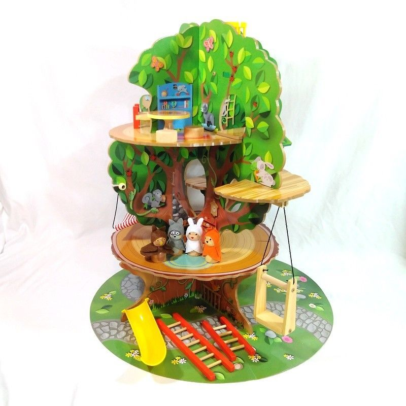 Imaginarium Forest Friends Tree House Play Set W Accessories Rare