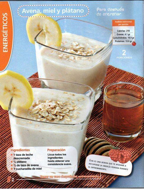 leche descremada con avena calorias