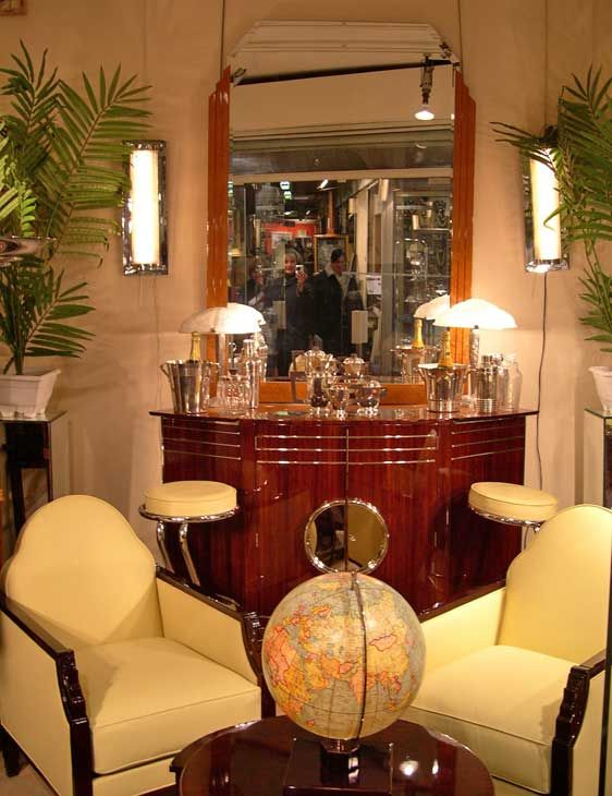 Swell Art Deco Bar And Chairs Mirror With Colour Stripes For Home Interior And Landscaping Oversignezvosmurscom