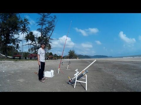 How to build a Compressed Air Bait Launcher for Fishing