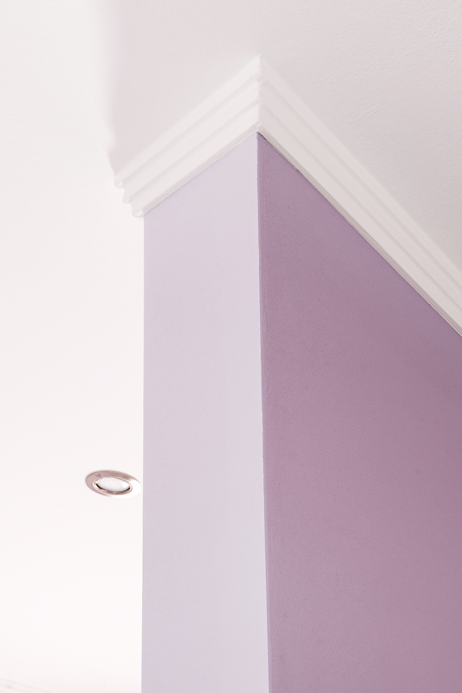 Detail der farbigen Gestaltung eines Schlafzimmers in Hannover Farbe Gestalten Hannover Farbakzent Farbharmonien