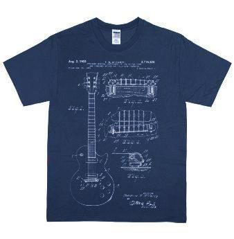 Fender Guitar Patent Blue T-Shirt #fenderguitars