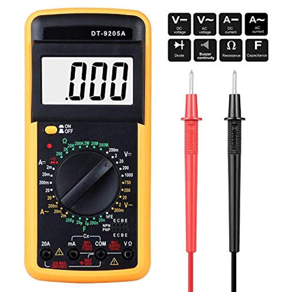 Digital Multimeter Multimeter Messgerate Digitales Voltmeter Amperemeter Ohmmeter Akustischer Durchgangsprufer Mul Baumarkt Elektroinstallation Ac Dc