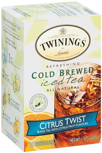 Twinings Citrus Twist Cold Brewed Iced Tea 20 Count Bags Pack Of 6 Simply Add Water Let Stand Ice And Minutes Later Your Refreshing Is
