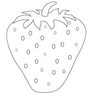 Una Fresa Fresas Dibujo Fresas Dibujos Para Colorear