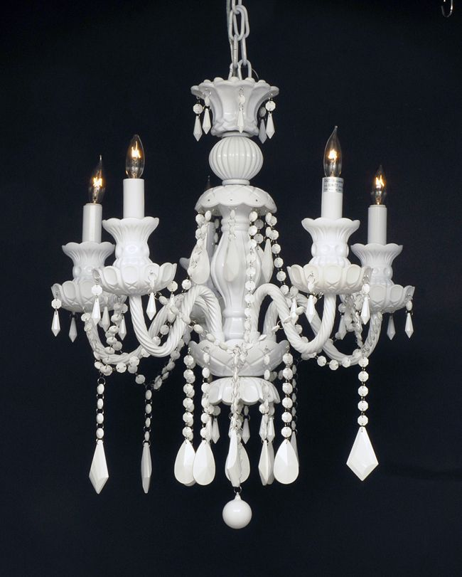 G46 white34905 chandelierking murano venetian style snow white gallery lighting snow white crystal five light chandelier aloadofball Image collections