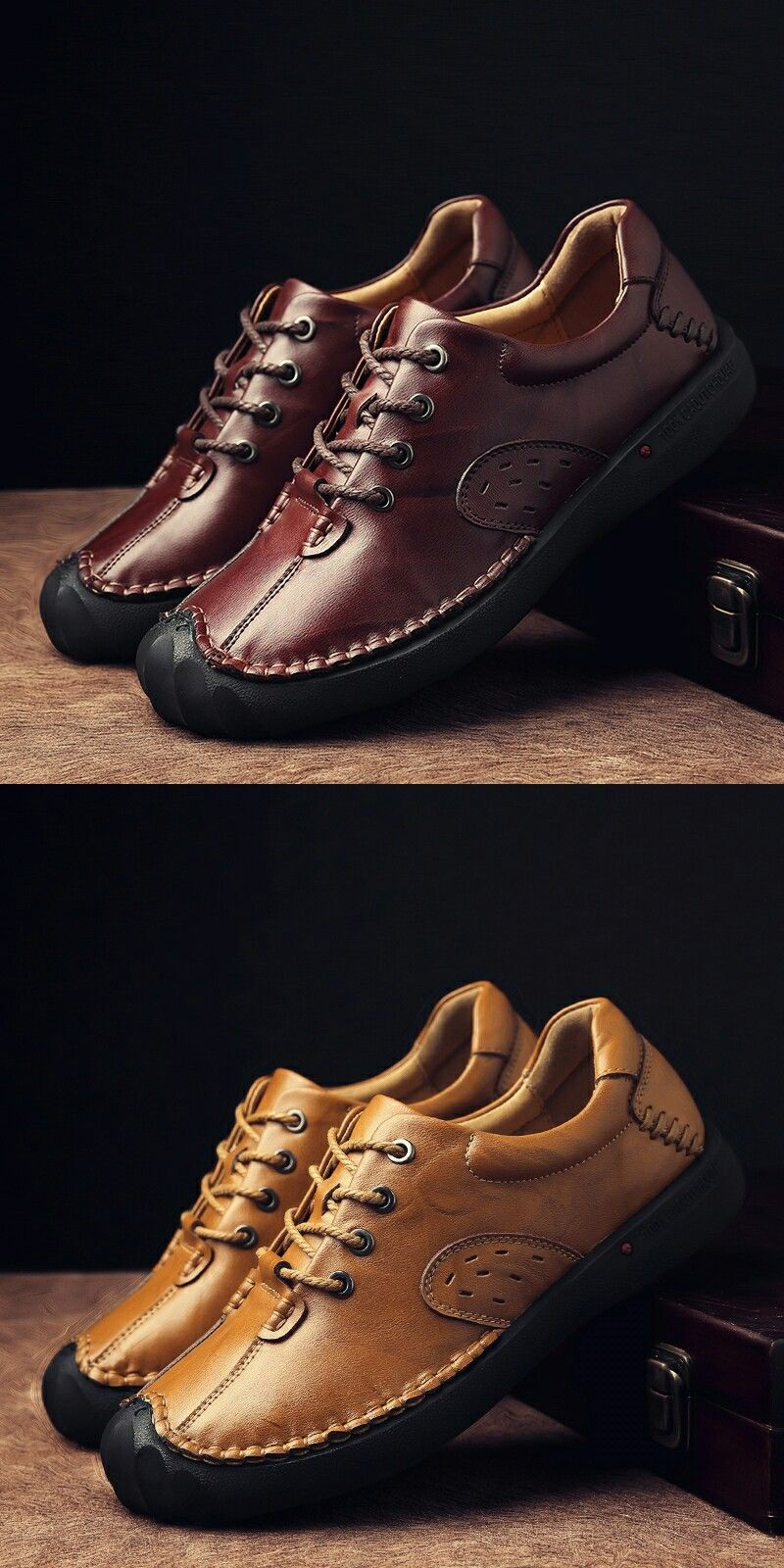 ef64c64dfd9 Click to Buy    Prelesty Brand Genuine Leather Men Shoes Casual Handmade Autumn  Winter Warm High Quality Men Flats Shoes Vintage Style