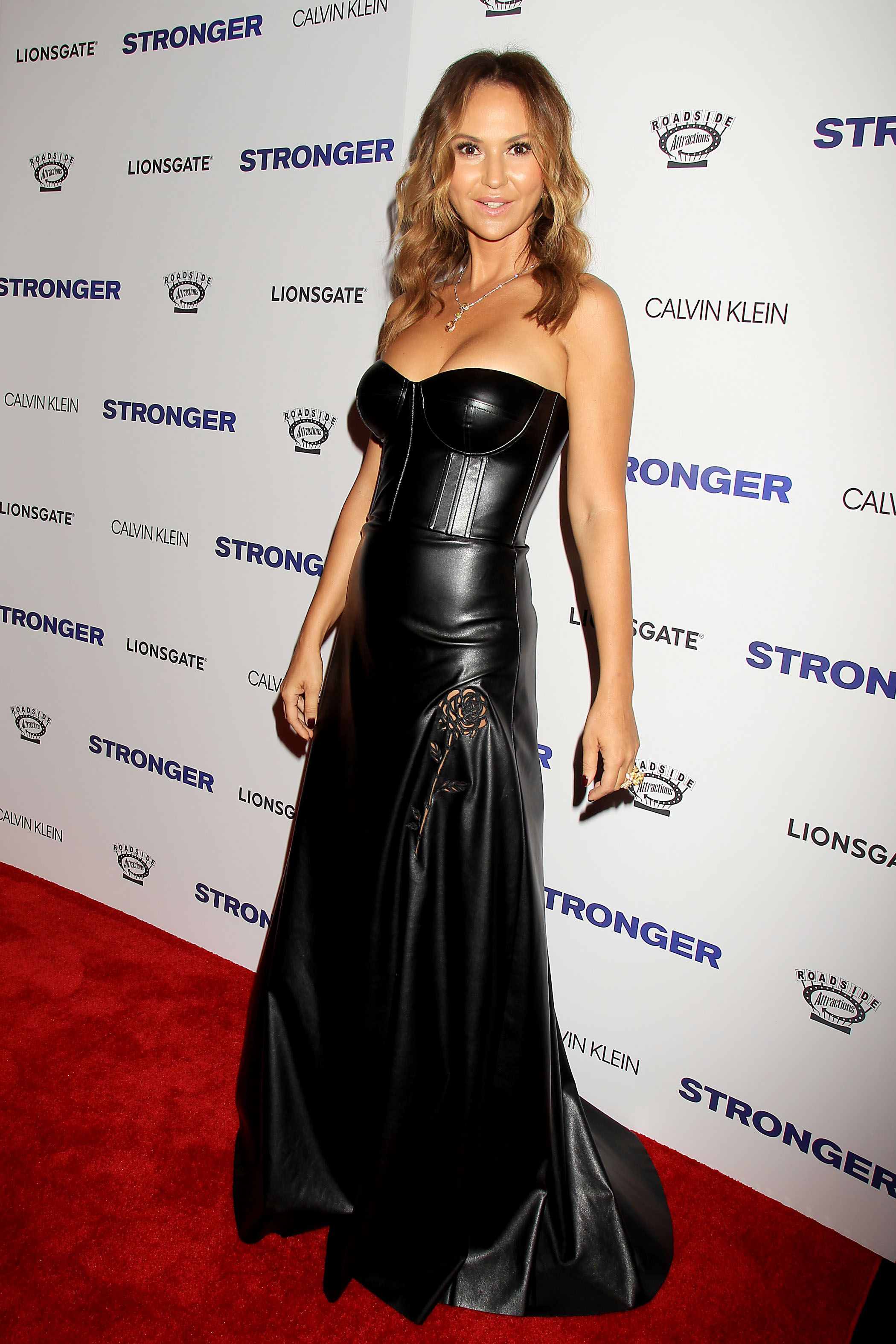 Celebs Wearing Leather Jackets & Dresses – Pics ...