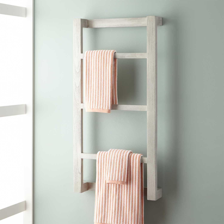 Too Wide But Another Idea Wulan Teak Hanging Towel Rack