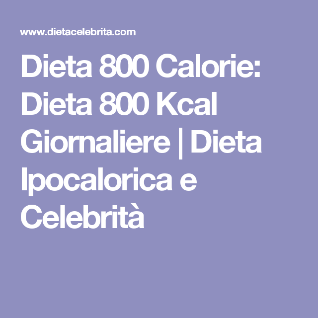 dieta ipocalorica e iperproteica