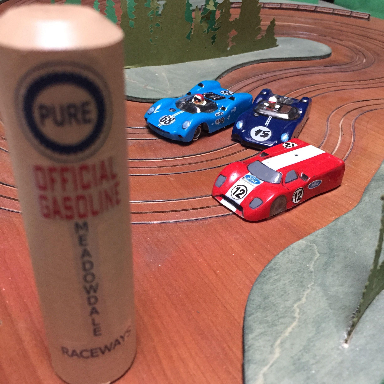Real Wood Ho Slot Car Track, 3 Lanes All On 2x4 Footprint