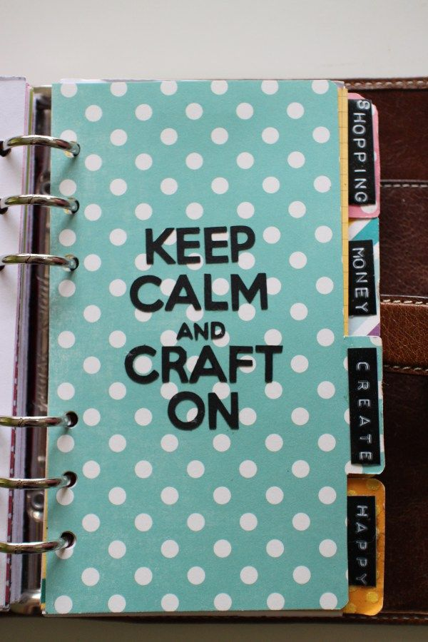 How to make planner dividers for your Filofax or Kikki K ...