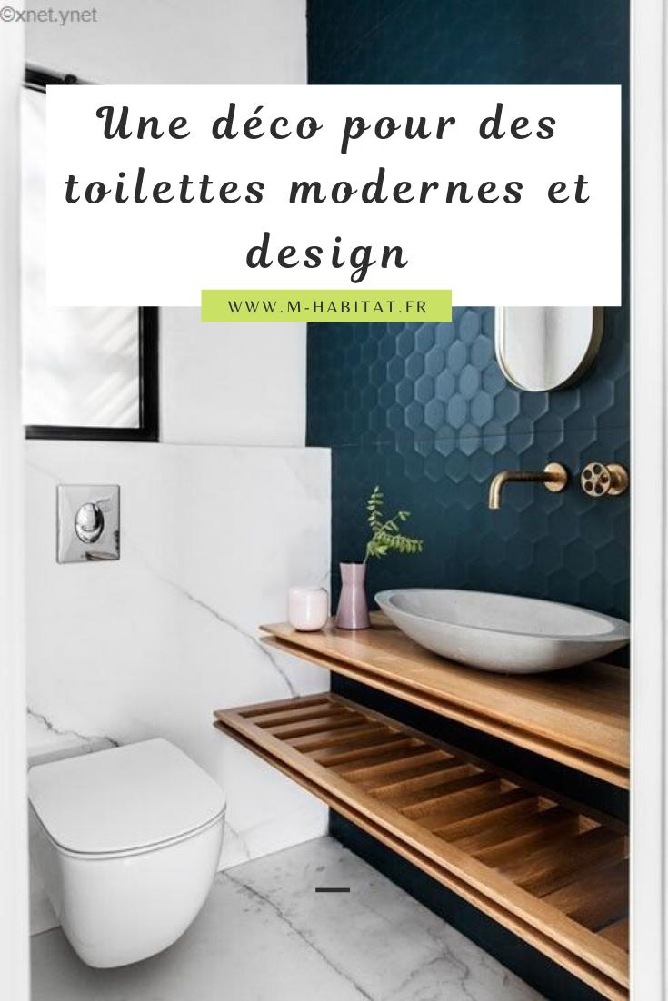 Une Deco Pour Des Toilettes Modernes Et Design En 2020 Avec Images Toilettes Modernes Idee Deco Toilettes Idee Salle De Bain