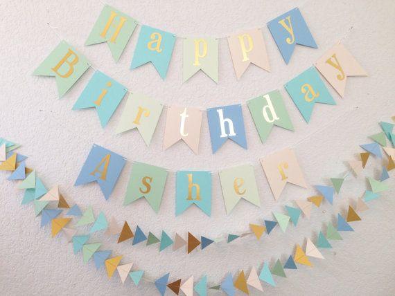 Feliz cumpleaños Banner hoja de oro se muestra cumpleaños | 1 ...