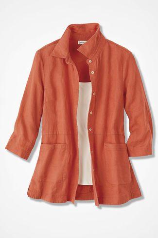 0fd931e0584 Easy Linen Shirt Jacket