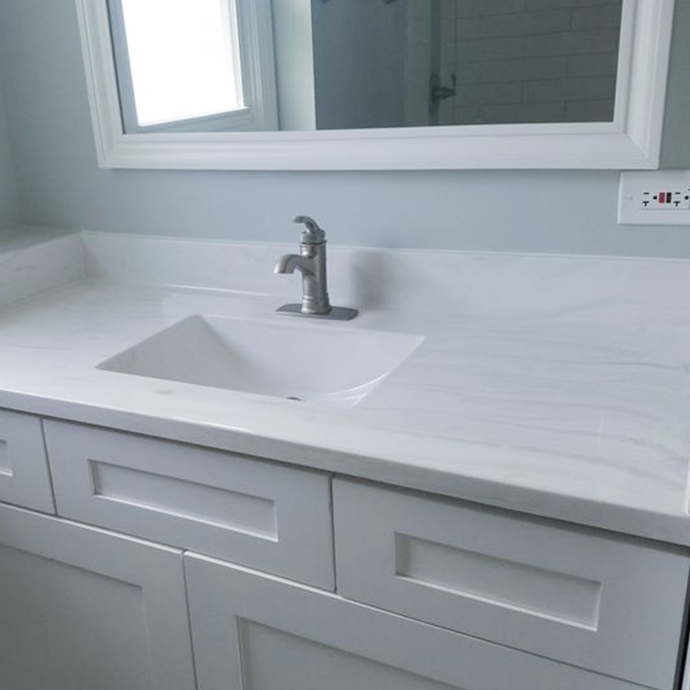 Affordable Countertops For Extra Bathrooms Carrera Frost Cultured Marble Schillings Cultured Marble Vanity Tops Marble Vanity Tops Cultured Marble