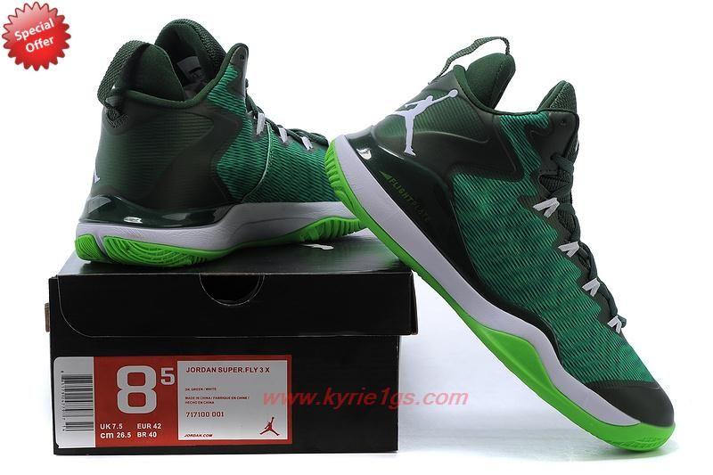 best website 5bc64 8e4b8 Buy Mens 717100-001 Green Jordan Super Fly 3 NZ2T3O