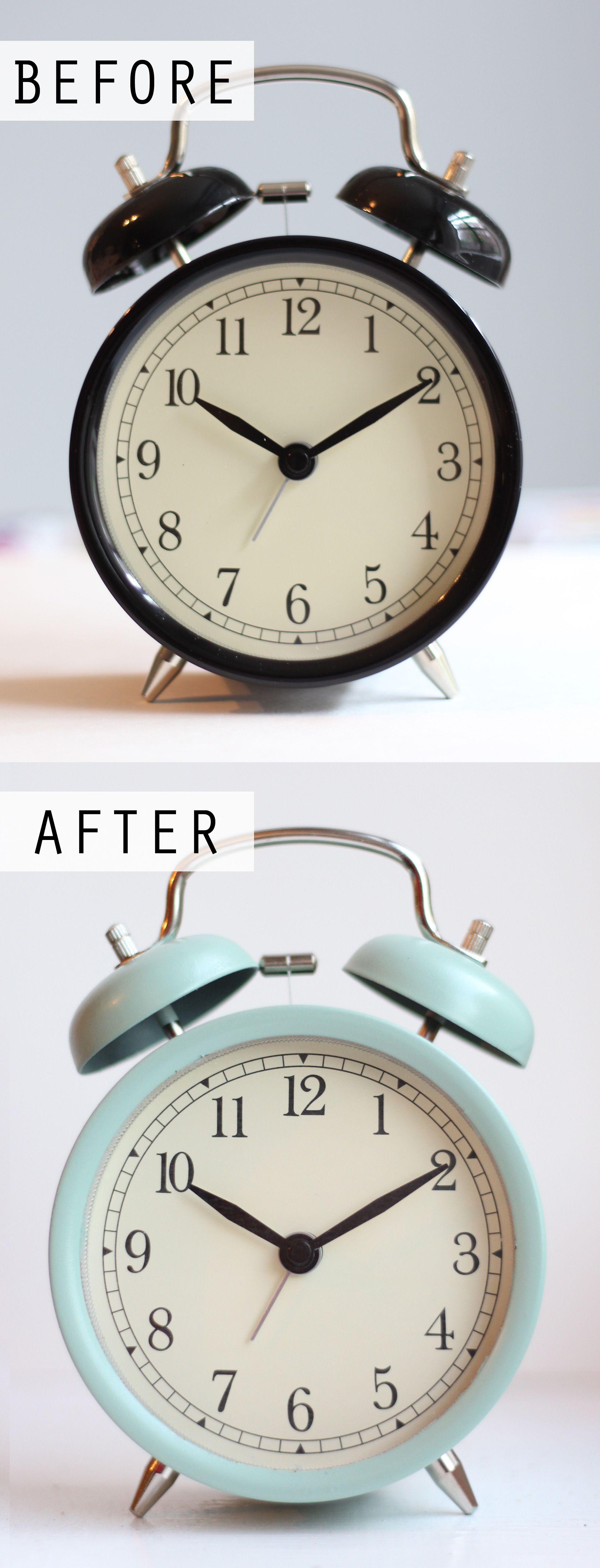Decorative Bedroom Alarm Clocks: Easy DIY Painted IKEA Alarm Clock