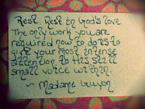 card a day. My cards. Madame Guyon quote. One of my favorite ...