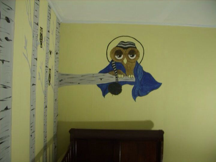 Baby room ideas. I painted my sons room owl and bird themed.
