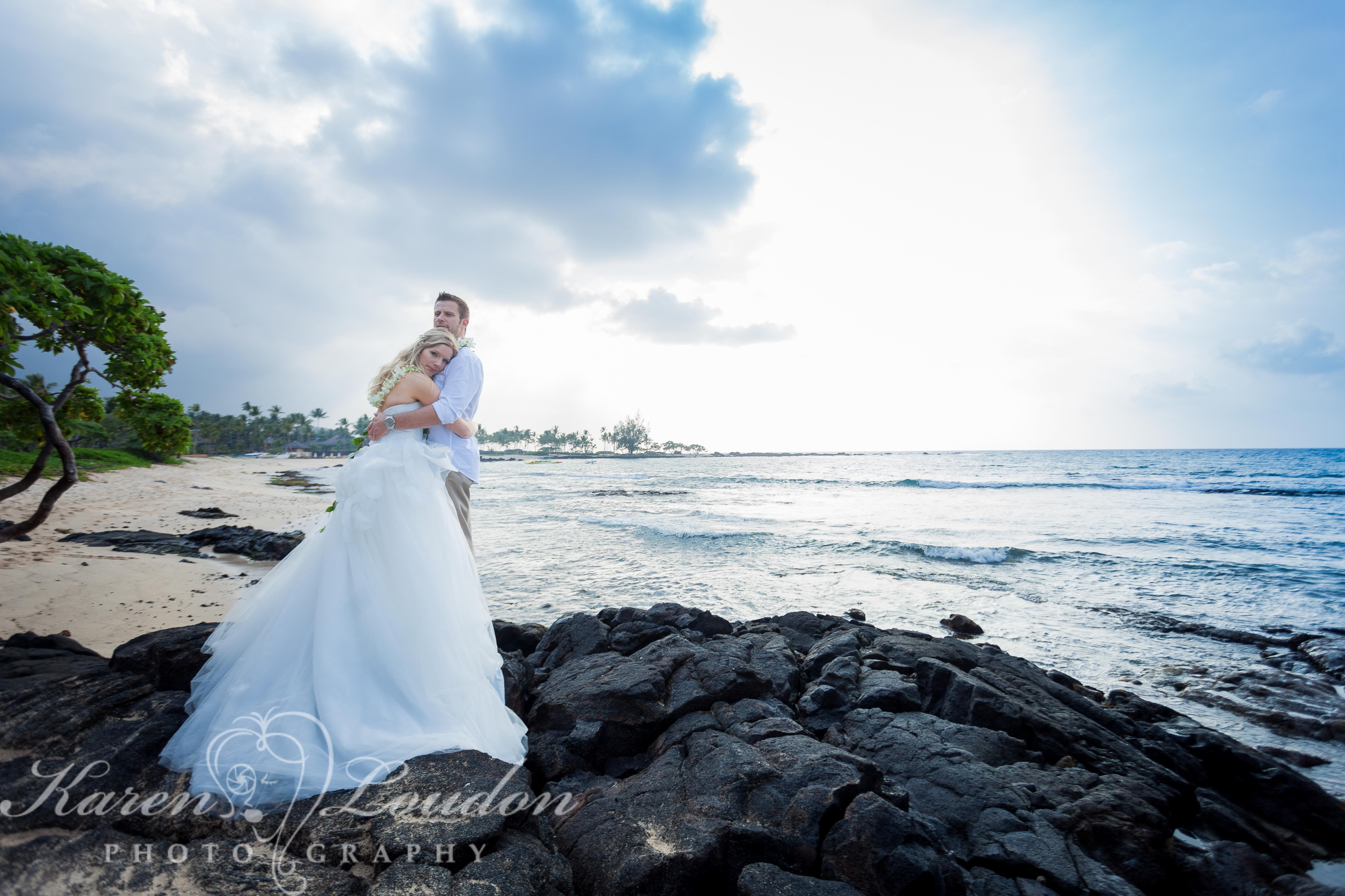 Kukio Beach Wedding Four Seasons Hualalai