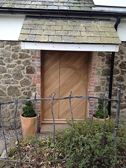 A beautifully finished oak door made by a bespoke joinery in Devon