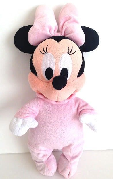 6719c1fb6fac Disney Babies Minnie Mouse Plush Pink Pajamas Removable Baby Doll ...