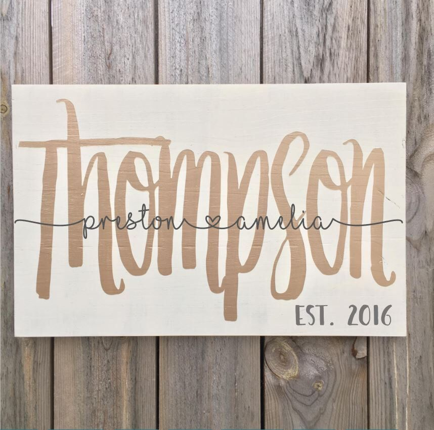 Wedding Gift for Couple Personalized Gifts Monogrammed Wedding Gift Ideas DIY Wedding Sign Natural Wood Family Sign DIY Wedding Decor