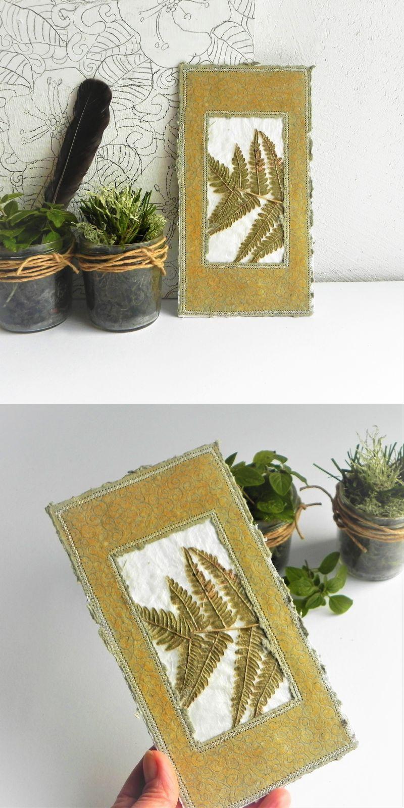 Fern Leaf Greeting Card Handmade Botanical Fall Card Natural Card