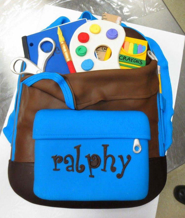 Torte Zur Einschulung Fondant Schulranzen Schulsachen Kreative Idee Schulanfang Name Torte Einschulung Kuchen Ideen Torte Zur Einschulung Rezept