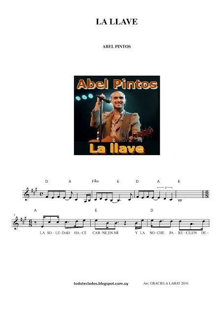 La Llave Abel Pintos Partituras Guitarra Partituras Música De Piano