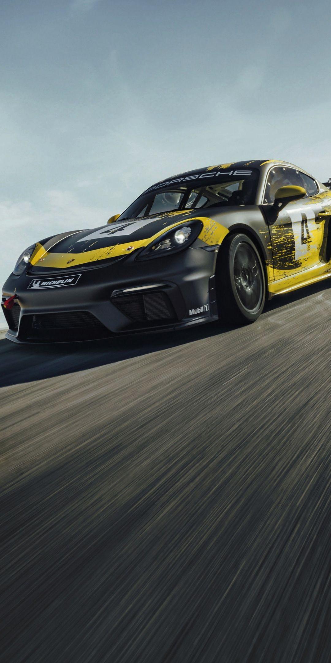 On Track Porsche Cayman Gt4 1080x2160 Wallpaper Porsche 718 Cayman Cayman Gt4 Porsche