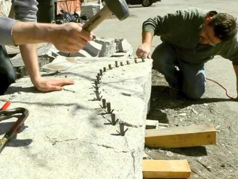 Splitting Stone Youtube Dry Stone Stone Carving Stone Masonry