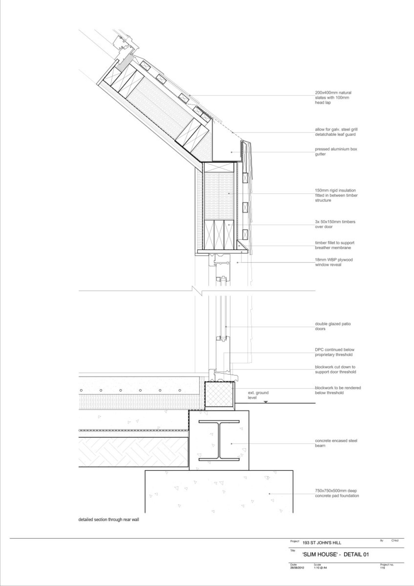 Alma Nac Slim House Roof Architecture Larch Cladding Roof Detail