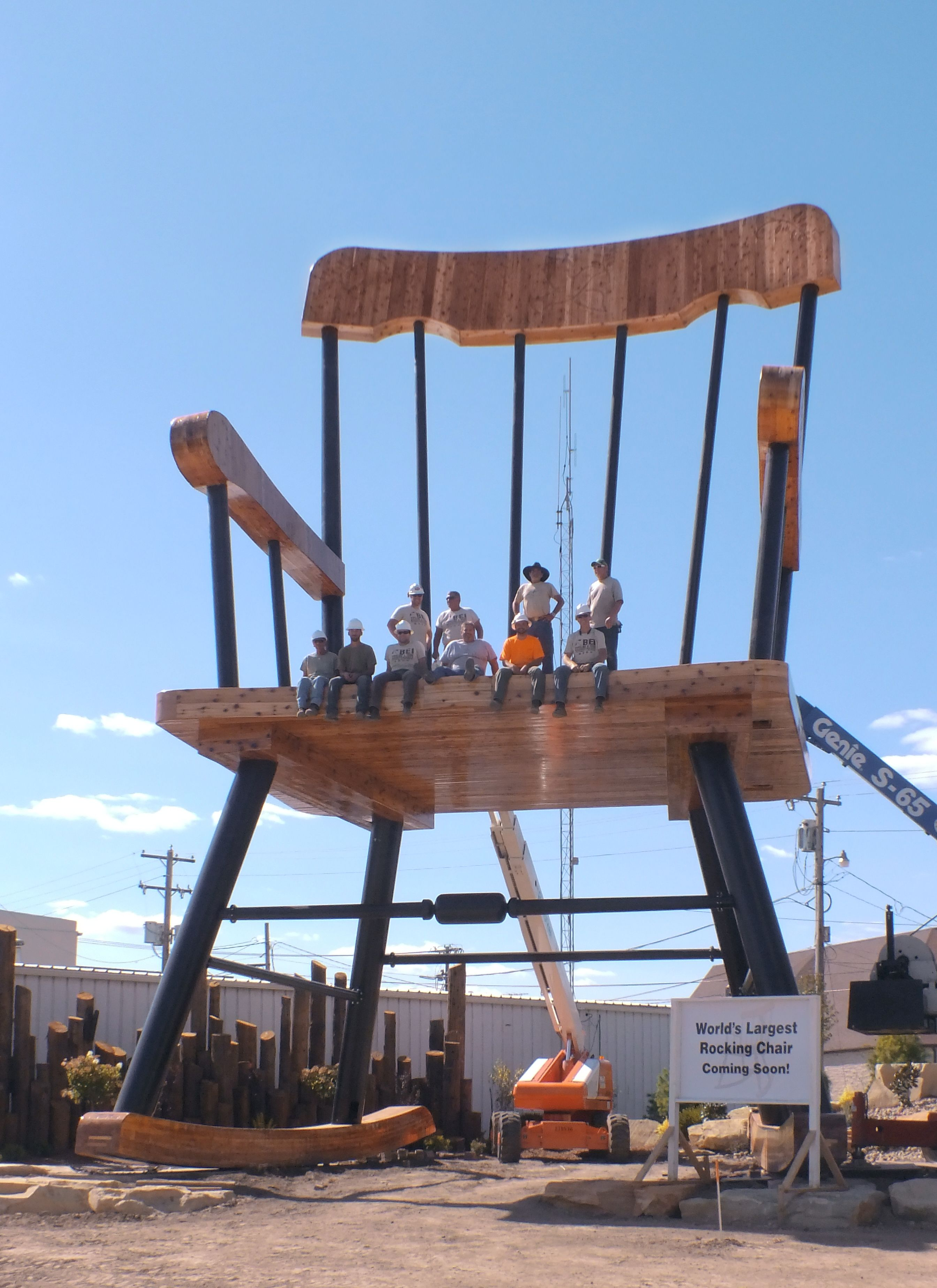 world\'s largest rocking chair World's Largest Rocking Chair! Hoping to gain the title of World's  world\'s largest rocking chair