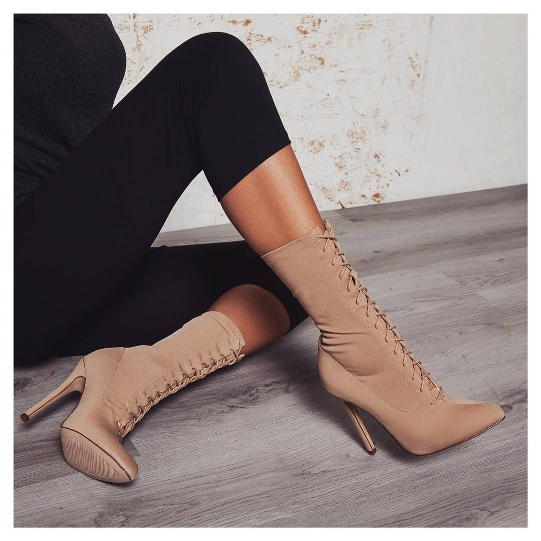82da9c082fd5 Cosmic Lace Up Ankle Boot In Nude Knit. Knit lace ups 😍 Style  COSMIC.  Sign up to newsletter for 15% off discount.  egosquad  egoofficial  shoes  ...