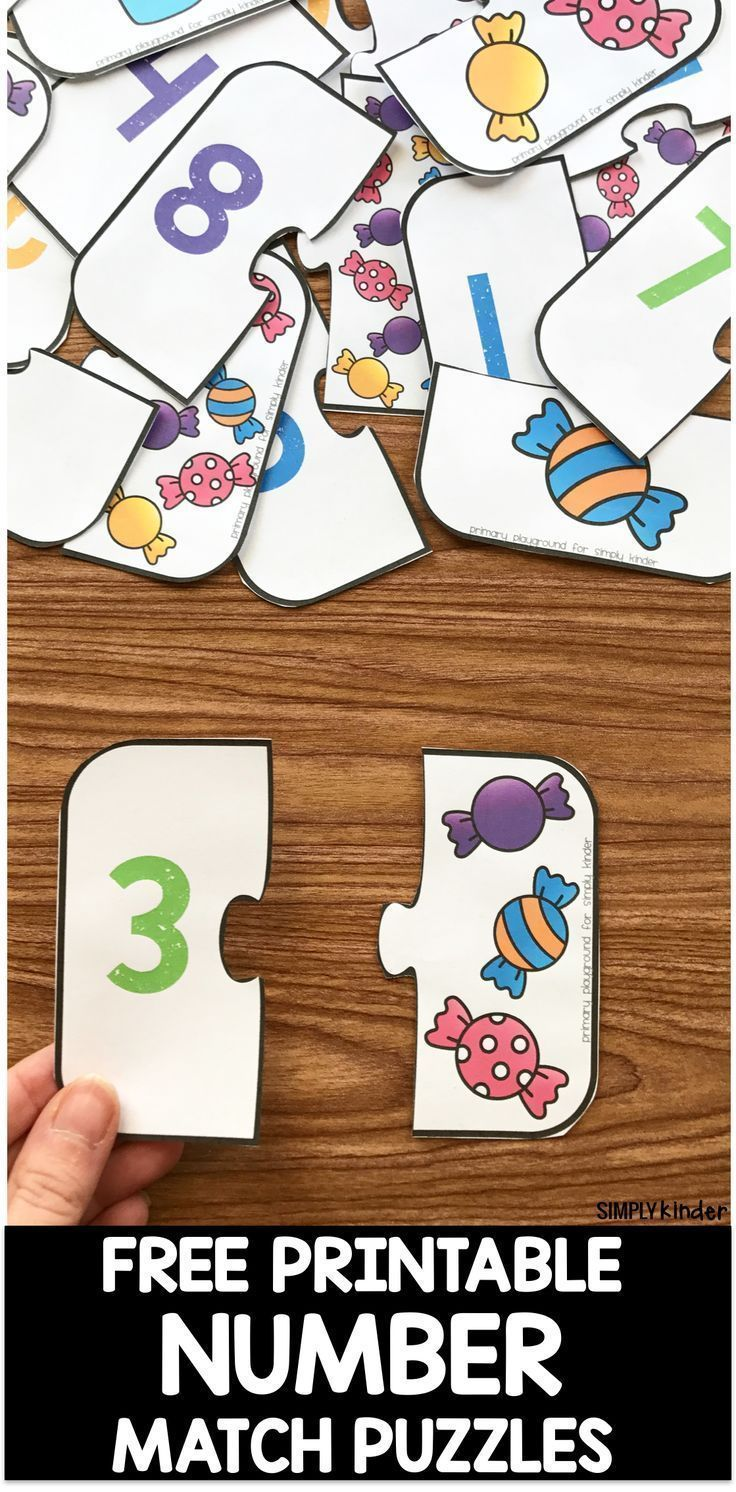 Free Printable Number Match Puzzles Free printable