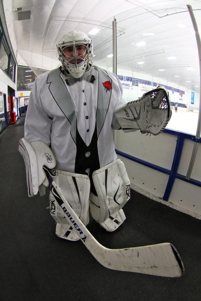Hitting The Ice In Style Goalie Icehockey Tuxedo Hockey