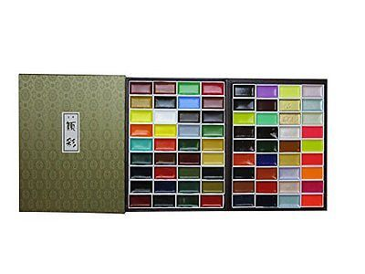 Brand New Kissho Gansai Japanese Watercolor Paint 72 Colors Set