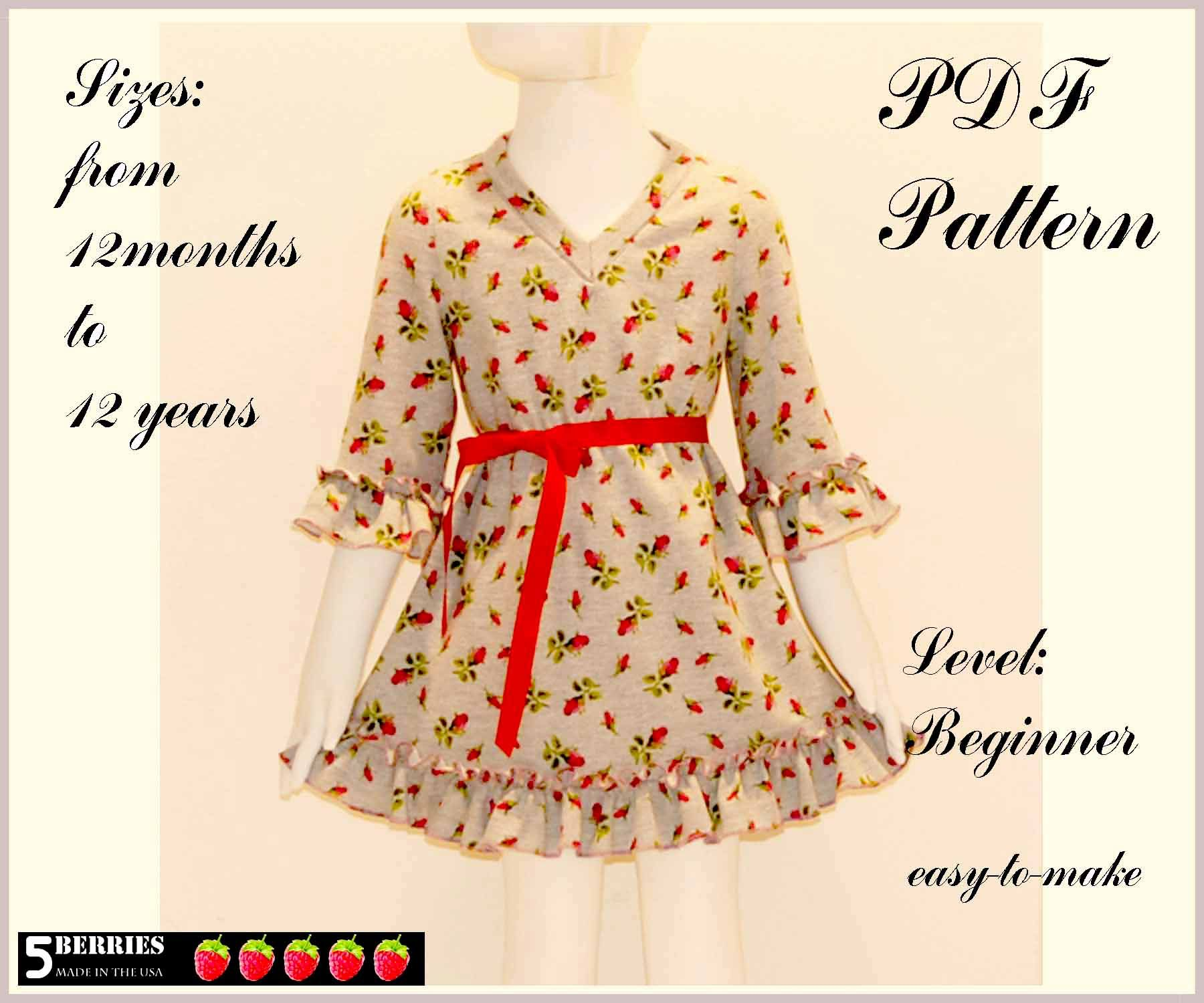 free pdf sewing patterns for toddlers